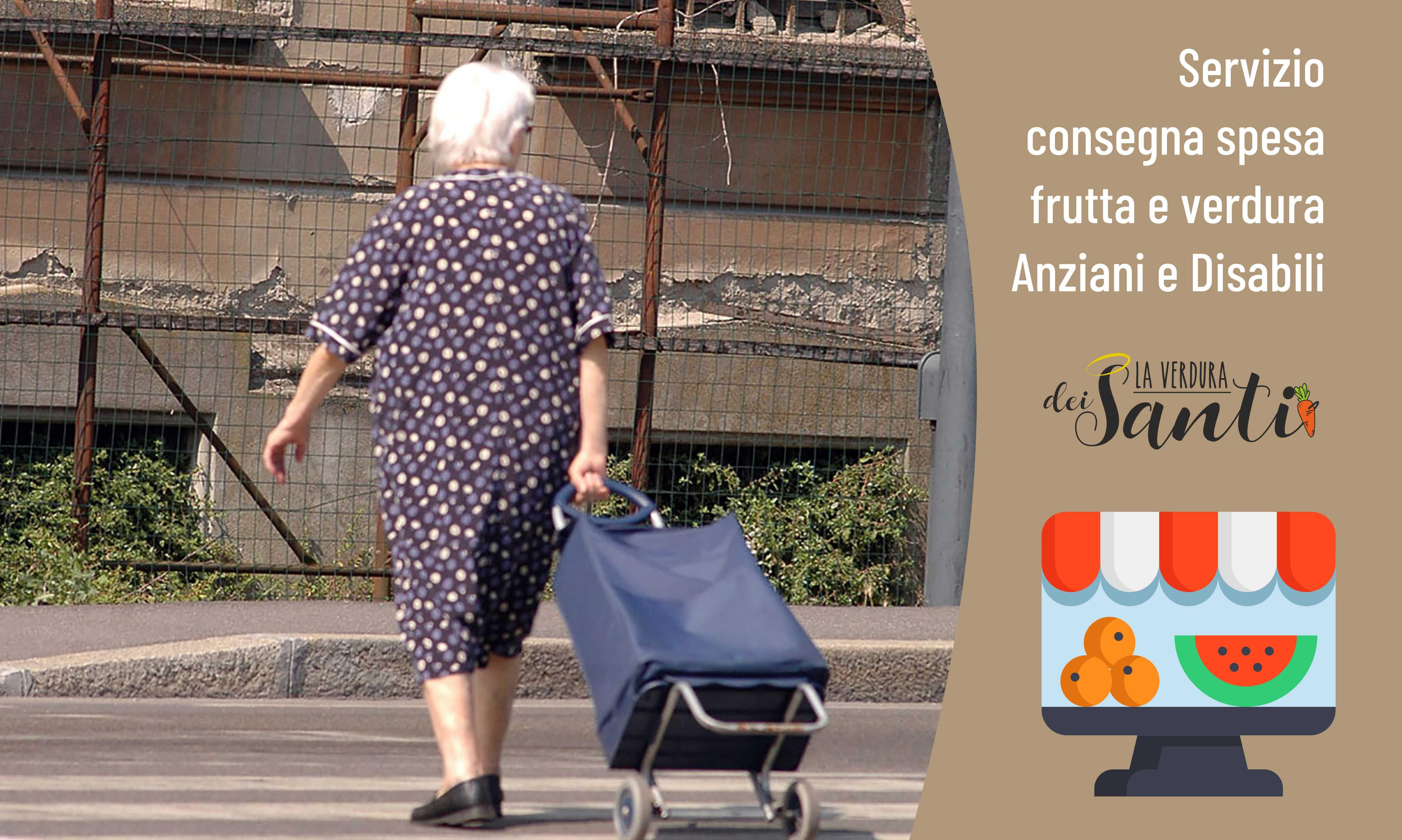 Con il caldo aiuta anziani e disabili a fare la spesa.